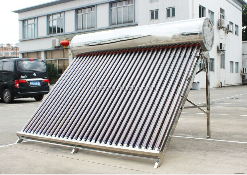 Stainless steel solar water heater, different capacity salor water for sale