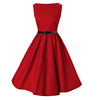 Elegant Ladylike Vintage Charming Geometry Sleeveless Ball Gown Formal Woman Dress