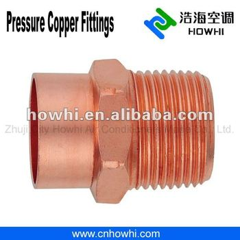Copper pipe fitting, Adapter - Fitting FTG X M, for refrigeration and air conditioning