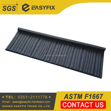 China supplier wood tile stone coated metal roof tile cheap price