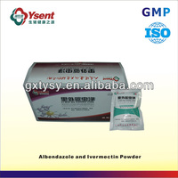 Chinese high-efficiency white albendazole powder