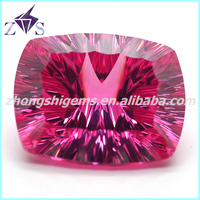 Ruby 3# Concave Cut Synthetic Corundum