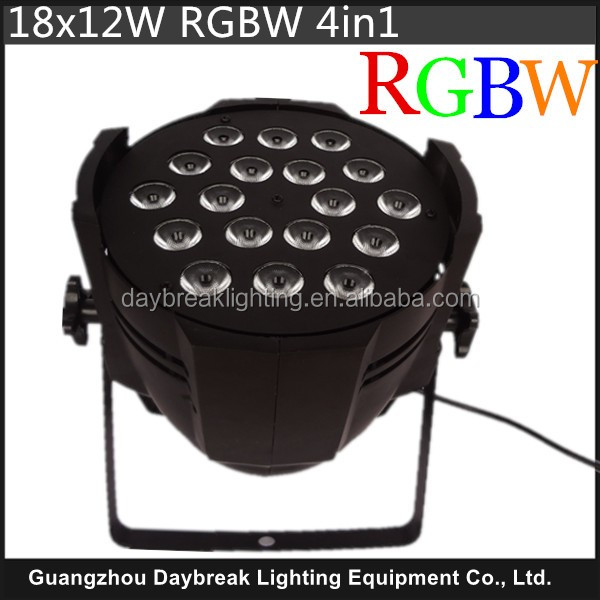 Quad color led par cannon 18x12w RGBW LED par light 4in1 wholesale price stage led par