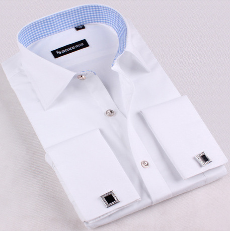 2016 Onen Big yards men's French cufflinks shirts men long sleeve shirt for mens casual shirts