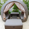 Rattan Round Outdoor Lounge Bed Outdoor