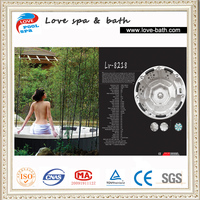 air jet massage outdoor round hydro spa hot tub for 8 person