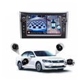 360 degree 4 way car camera system with night vision camera