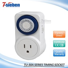 USA hot sales and cheap price mechanical type timing switch 30A PC mini timer socket