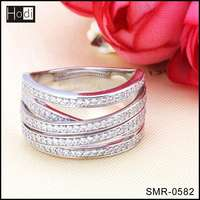Fashionable Free Sample 925 Sterling Silver Jewelry Silver Engagement Rings
