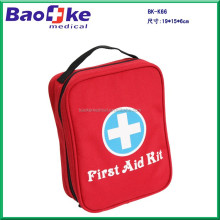 Custom BK-K66 automobile first aid kit with carry handle and inside pvc pouch