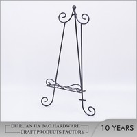 Metal Wrought Iron Easel Stand for Plate