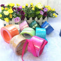 Wholesale gift package natural colored paper raffia ribbon