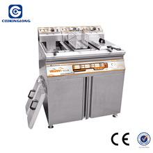 Commercial Kitchen equipment 2 Tanks 4 basket Stainless Steel Commercial Deep electric Fryers
