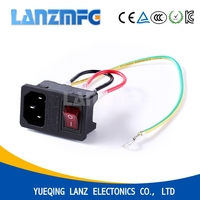 LZ - 14 - F3 3 Pin Male AC Power Switch Sockets,Switched Socket Outlet