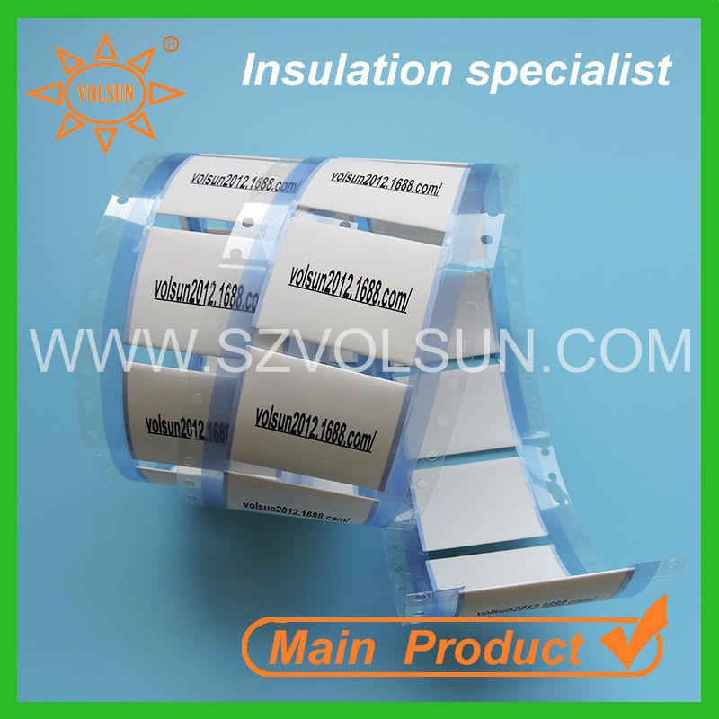 Cable identification polyolefin heat sensitive label