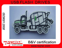 Manufacturer Supply truck shape 128MB-32GB silicone USB Flash Drive