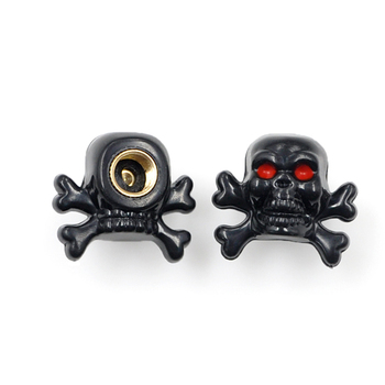 BYC Black Skull Spare Parts Special Car Tyre Valve Dust Cap