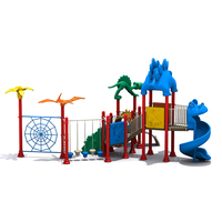 dinosaur style children outdoor playground for kids funny slide large baby climbing colorful playground for park
