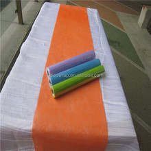 Cheap Disposable Non woven Paper Table Runner For Wedding and Christmas
