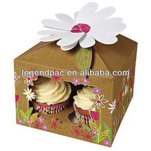 Custom production ecofriendly various paper cupcake box