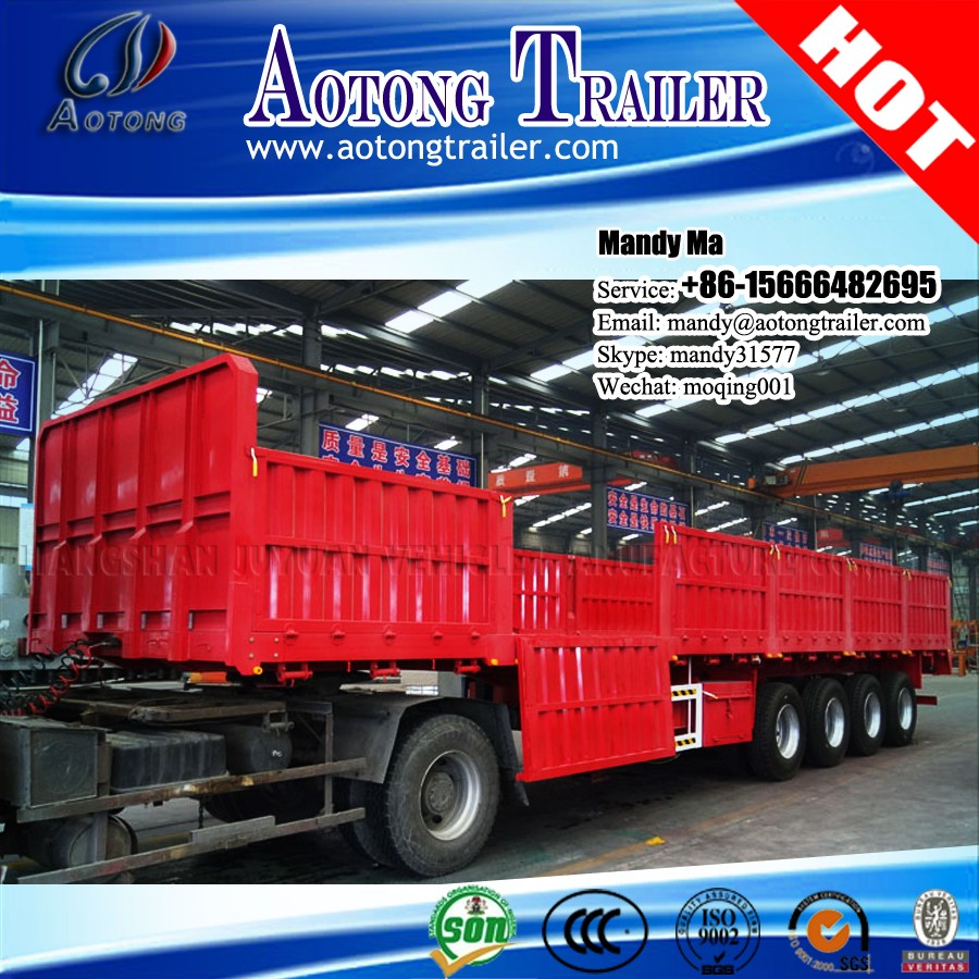 2017 cargo flatbed semi trailer with sides for sale