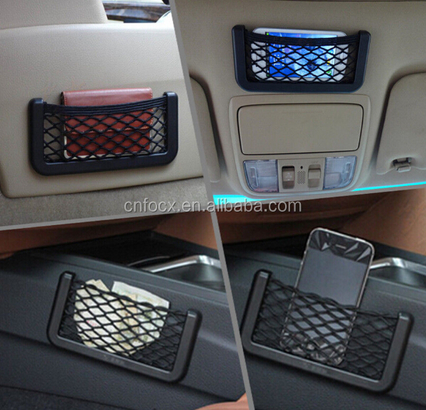 Universal car mesh storage / car phone pocket / car seat side pocket