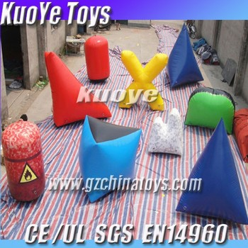 inflatable small bunker field,paintball bunker games,high quality bunker paintballs