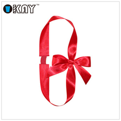 Pre-tied satin ribbon Bows with Elastic Loop