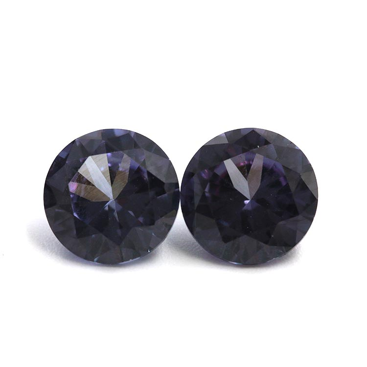 good quality round shape blue synthetic sapphire 45# corundum per price jewelry stone