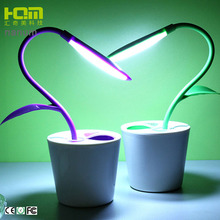 Modern battery operated rechargeable adjustable led desk lamp with pen holder