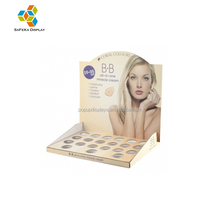 Printed Corrugated cardboard counter top merchandiser for makeup