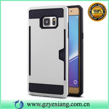 Low price fancy armor case for Samsung galaxy s4 back cover with card slot holder