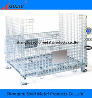 Industrial Collapsible storage wire mesh container wire cage