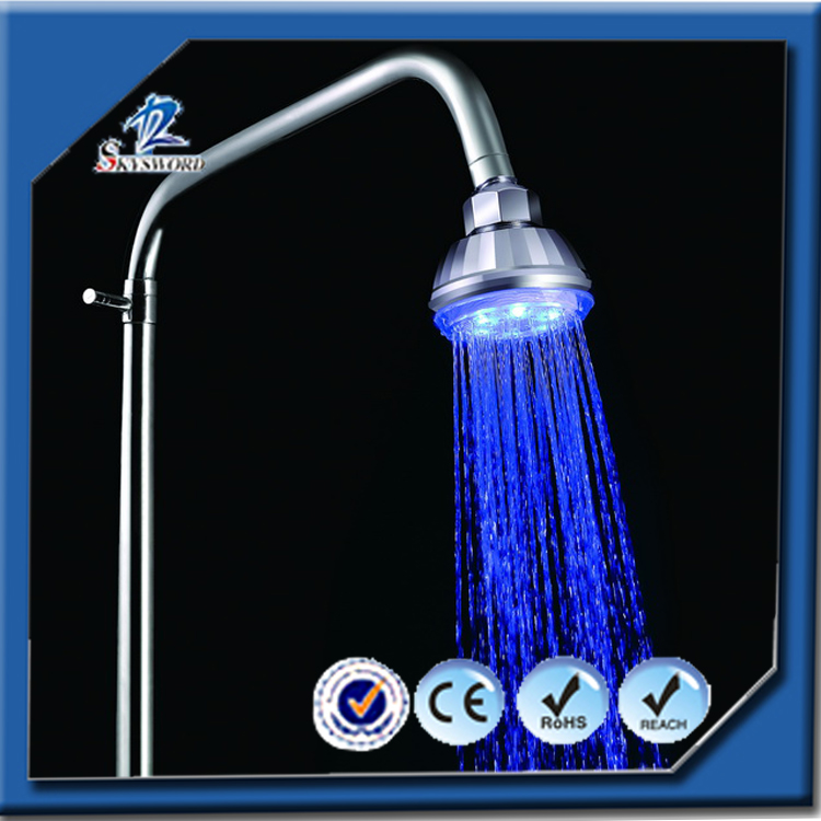 Wholesale Water Saving 3 Colors Changing Led Rain Shower Heads Controlled By Temperature