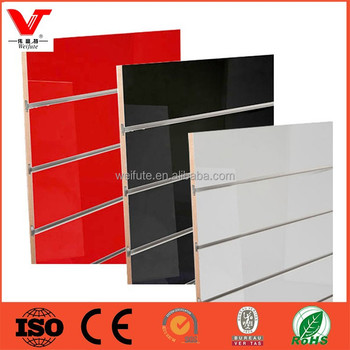 Low Price slotted mdf board,slat wall panel, slatwall board