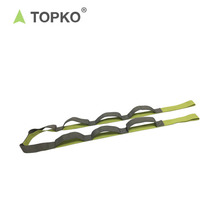 TOPKO Fitness Equipment Non-toxic Cotton 10 loops Yoga Belt Stretching Strap