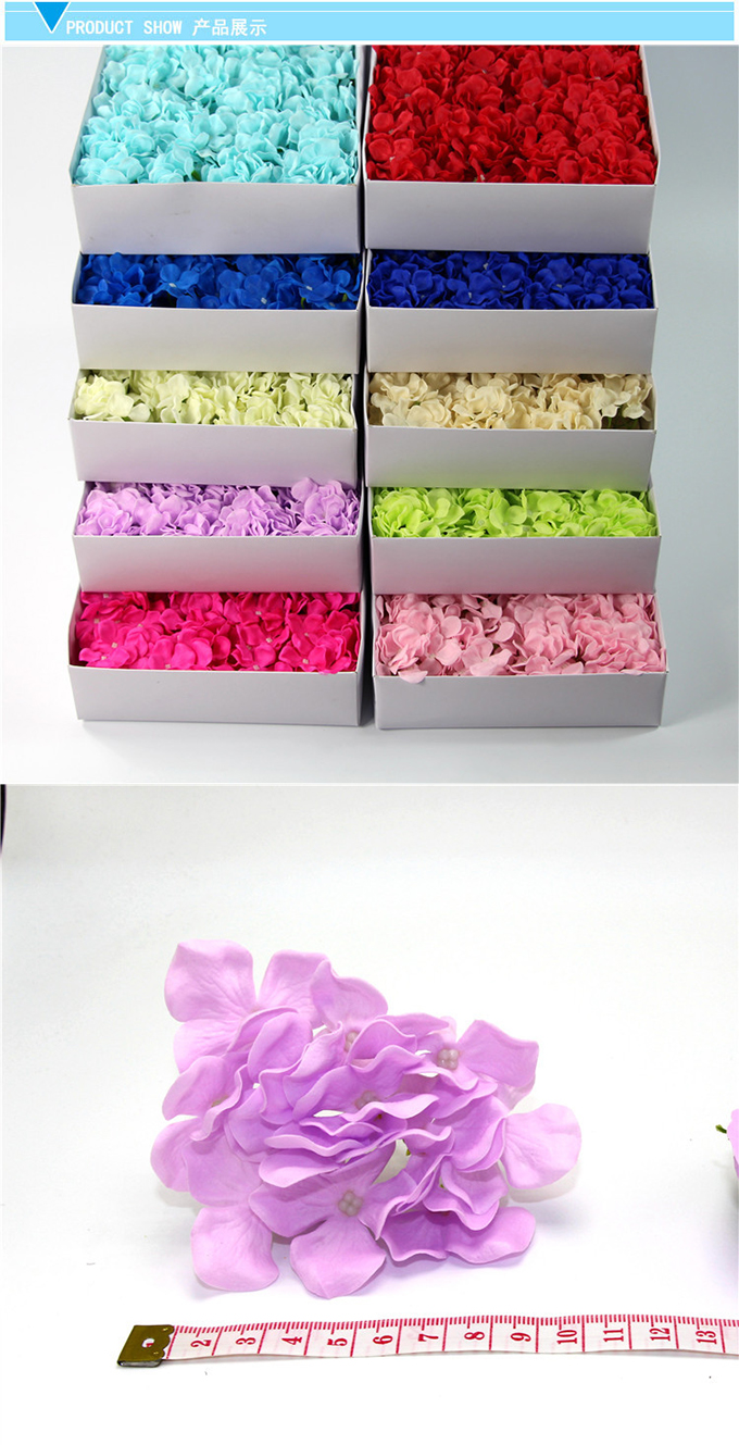 36pcs/box carving soap flower hydrangea artificial flower for wedding decoration