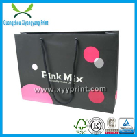 CYMK 4 colors printing custom made reusable strong paper shopping bags china supplier