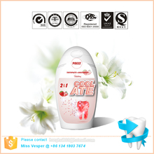 75ml private label biodegradable refresh strawberry liquid toothpaste for kids