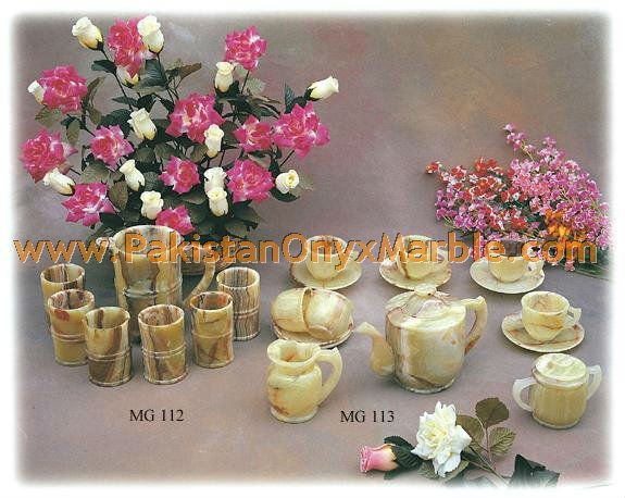 NATURAL STONE ONYX /ONYX TEA CUPS, CATTLE, JUGS & GLASSES