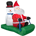 Wholesale cheap xmas decorations , Santa and Snowman Sledding Scene supply in china