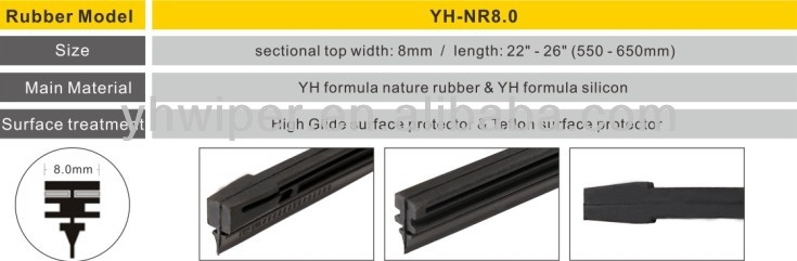 colorful silicon wiper blades rubber