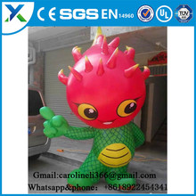 Superior PVC or Oxford guangzhou Cartoon model gas standing inflatable fruits inflatable vegetables for promotion