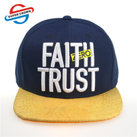 High Quality Wool Flat Snakeskin Leather Brim Snapback Cap Wholesale With 3D Embroidery