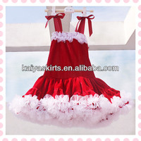 Whoesales New Hot sale! Santa Velvet Petti Dress, Christmas Fashion design princess party dress