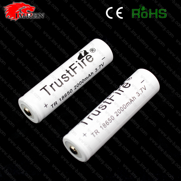 2000mah 18650 3.7v Lithium Polymer Battery Technology for TangsFire