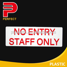 plastic self adhesive office sign board