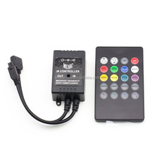 Infrared Music Controller 20 keys IR Remote Controller Sound Sensor Controller For 5050 3528 5630 RGB LED Strip light Flexible