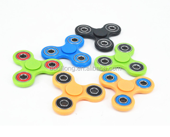 Hottest Stress relieves Plastic Fidget Hand Spinner in different colors
