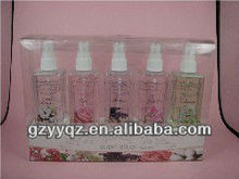beauty and fresh body spray perfume with flower